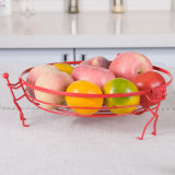 Artistic Style Living Room Kitchen Round Metal Wire Fruit Basket