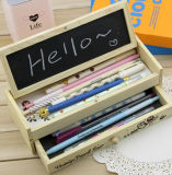 New Design Double-Layer Wooden Pencil Bag