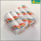 "10PCS 4"" Rainbow Strips Acrylic Mini Paint Roller Set"