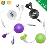 Hot Promotion Retractable Stereo Headsets Wholesale Earphone for Mobile Phone MP3 Player