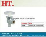 Chrome Plating Forged Brass Plastic Handle Angle valve
