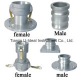 Aluminum Flange/Double Ends Male-Female Hose Pipe Quick Coupling-Pipe Fitting