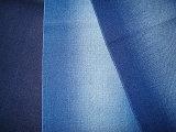 Cotton Blenched Slub Twill Stretch Denim Fabric Indigo Dark Blue