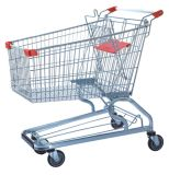High Quality 180L Shopping Trolley with Handle Wheels and Baby Seats Packing Use Air Bubble Film (YD-T4)