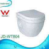 Bathrooom Sanitary Ware Wall Hang Round Ceramic Toilet with Cistern