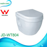 Bathrooom Sanitary Ware Wall Hang Round Design Ceramic Toilet with Cistern