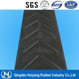 6-25mm Height Anti Slip Cleated V Type Chevron Conveyor Belt