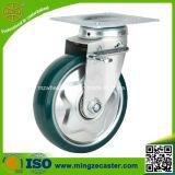 Medium Duty Green Polyurethane Trolley Wheel