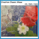 3-8mm Clear Colored Patterned Figured Glass with Ce & ISO90001
