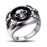 Stainless Steel Men′s Jewelry Skull Ring