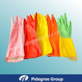 Flock Lined Household Gloves, Medical Supplies in Top Quality