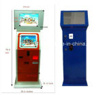 Self Service Kiosk Terminals of Payment by Coin, Card or Banknote Public Mobile Device Charging Stations