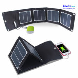 13W 5V Foldable USB Solar Charger 23.5% Highest Efficiency Compatible with Mobiles, 5V USB Devices (FSC-13A)