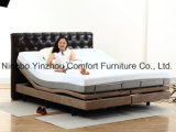 Massage Motor Okin Motor with Memory Foam Mattress Split King Queen Size Adjustable Bed