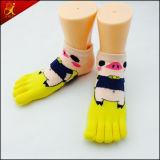 Animal Head Sock Five Toes Socks