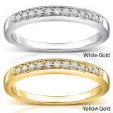 Half Row Diamond Ring Jewelry 925 Sterling Silver Wholesales