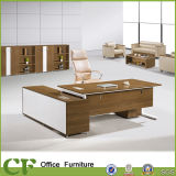 Luxury Large Modern Office Chairman Table with Side Cabinet