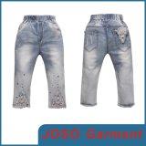 Kids Denim Cropped Girls Jeans (JC5106)