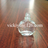 Small Flat Glass Bottle for Medicine, Essential Balm