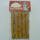 "Dog Food of 5""/18-20mm Smoked Pork Hide Twist Stick for Dog"