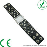 Alloy Diamond Rivet Rectangle Leather Pearl Hand-Made Watch