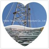 Galvanized Self Suppporting Communication Antenna Telecom 3 Legs Triangular Tubular Steel Lattice Tower