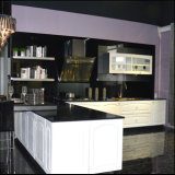 PVC Plywood Kitchen Cabinet with Island (FY6632)