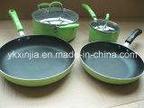 Kitchenware Colorful 6PCS Aluminum Non-Stick Cookware Set