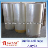 BOPP Adhesive Super Clear Packing Tape Jumbo Roll Adhesive Tape
