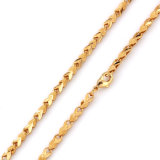Xuping Fashion Gold Plated Chainsaw Chain
