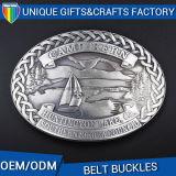 USA 3D Logo Metal Antique Brass Belt Buckles for Men