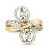 Fashion Jewelry 925 Silver Rings with Dancing Diamond