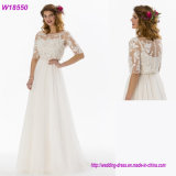 2017 Lace Wedding Dress Bridal Ball Gown with Sleeves W18550