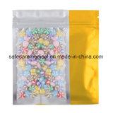 Premium Smell Proof FDA Approved Food Safe Color Mylar Foil Flat Heat Sealable Ziplock Bag