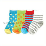 Wave Point or Stripes Candy Color Hot Baby Sock