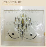 Silver Color and Clear Crystal Adhesive Body Jewel