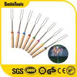 32 Inch BBQ Telescoping Marshmallow Sticks Extendable Forks