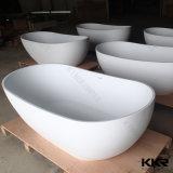 Hot Sale Egg Shape Resin Stone Freestanding Solid Surface Bathtub