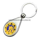Customized Metal Keychain with Epoxy Dome Logo