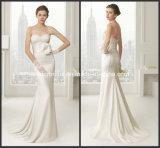 Strapless White Lace Beading Sheath Bridal Wedding Dress W14216