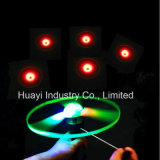 LED Light up Flashing Flying UFO Toy Pull String