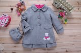 Girl Fashion Grey Coat and Dress (LH1301)