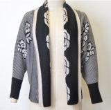 Patterned Lapel Open Cardigan Knitwear