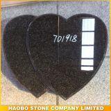 G654 Dark Gray Double Heart Monument Design