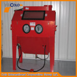 Red Manual Single Dry Sandblasting Machine