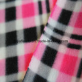 Print Polar Fleece with Two Side Brushed with Red Checks