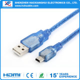 Cheap Price Blue Transparent Mini Cable USB 2.0