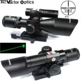 Vector Optics Sideswipe 2.5-10X40 Tactical Compact Rifle Scope with Green Laser Sight Range Finder Reticle Quick Release for Ar15 Ar 15 M4 M16 Rifles Hunting