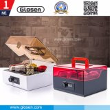 Office Use Lockable Stamp Box Seal Storage Box with Handle