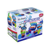 Fit & Fresh Kids Lunch Container Set with Removable Ice Packs
